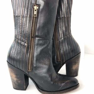 Freebird Knife Distressed Western Boots Leather 6